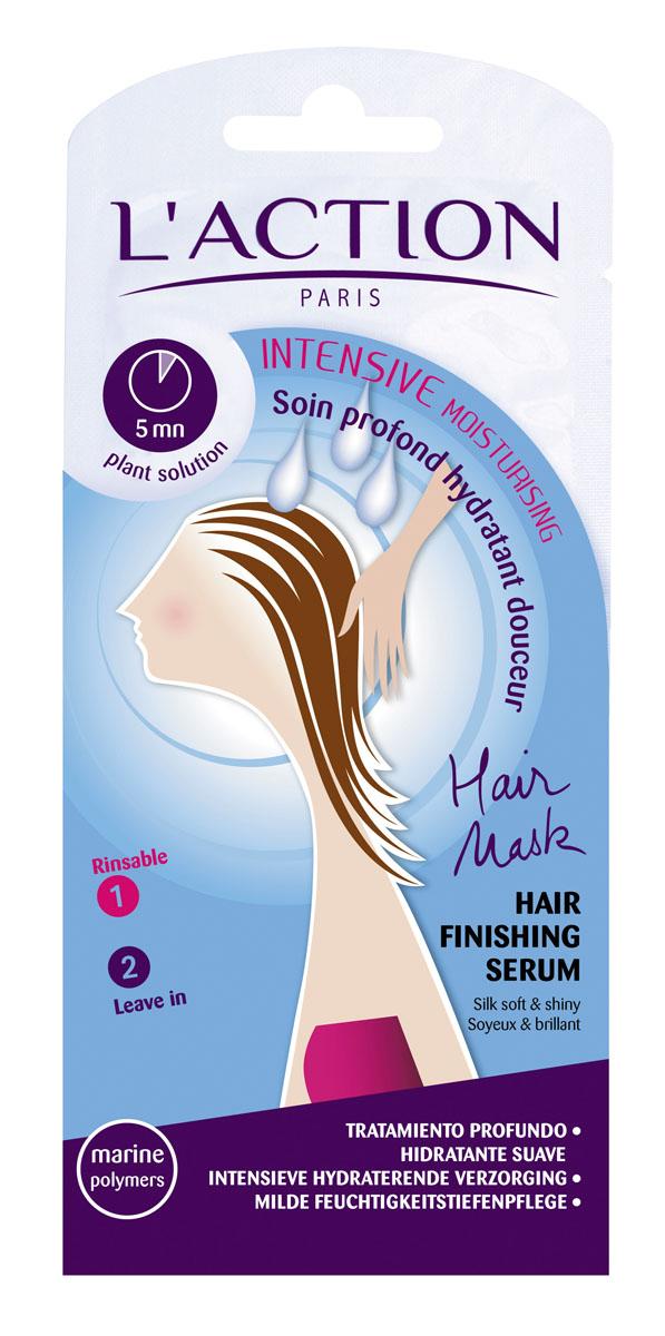 Laction Маска для волос увлажняющая, 15 мл+3,5 мл1840123Растительные экстракты и полимеры морского происхождения обеспечивают волосам необходимое увлажнение. Рапсовое и пальмовое масла делают волосы мягкими и сияющими здоровьем