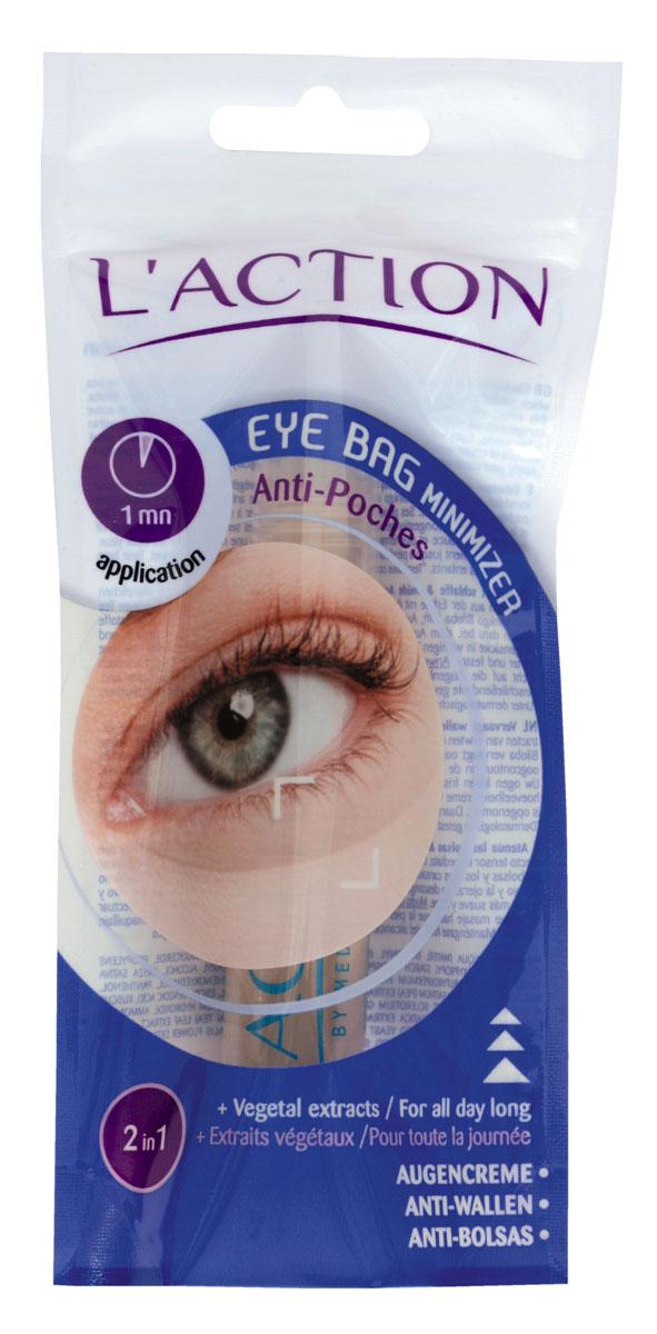 Laction Средство для уменьшения мешков под глазами Eye Bag Minimizer, 20 млFS-00897Незаменимое средство по уходу за усталыми и припухшими глазами. Растительная формула крема позволяет подтянуть кожу и удалить круги под глазами за секунды.Активные компоненты: Экстракт гингко-билоба и зеленого чая помогают уменьшить припухлость век (при ежедневном использовании в течение нескольких недель). Кожа вокруг глаз выглядит более сияющей, становится мягкой и упругой. В состав средства входит комплекс протеинов белого гороха и натуральных полисахаридов, который отвечает за увлажнение и разглаживание кожи, а также повышает ее эластичность.