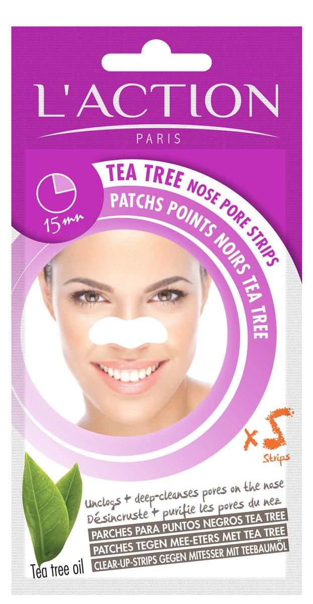 Laction Полоски для очищения пор в области носа с экстрактом чайного дерева, 5 шт.0511Полоски удаляют камедоны и очищают поры. Комбинированная формула с маслом чайного дерева глубоко очищает кожу. Эффект проявляется сразу - кожа чистая и свежая.