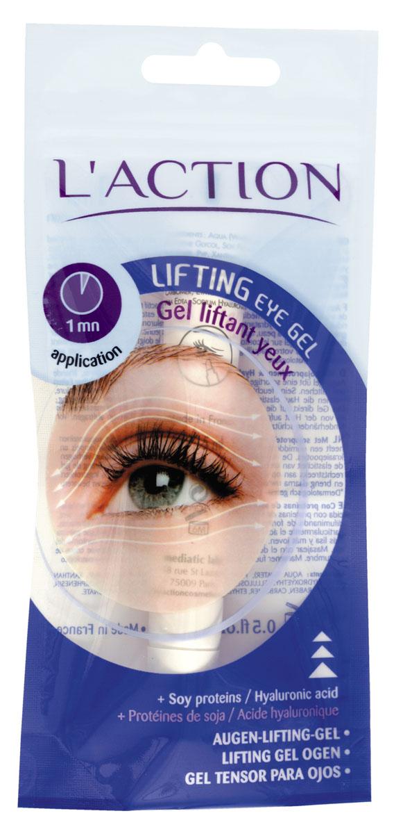 Laction Лифтинг-гель для области вокруг глаз от морщин Lifting Eye Gel, 15 млAC-2233_серыйПодтягивающий гель с гиалуроновой кислотой способствует удержанию оптимального количества влаги в коже, предотвращая образование морщин. Аппликатор не травмирует чувствительную кожу век. Соевые белки выравнивают поверхность кожи, способствуют сокращению морщин и помогают защитить кожу от негативного воздействия окружающей среды.