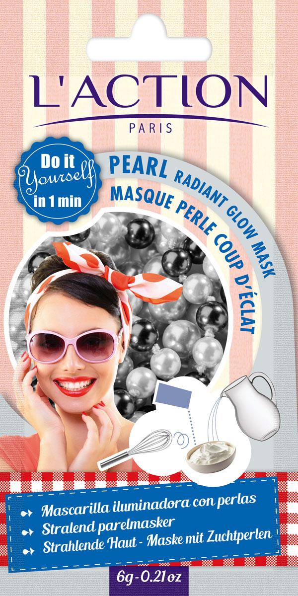 Laction Маска для лица с эффектом лифтинга на основе жемчуга Pearl radiant glow mask, 6 г80123065Маска на основе перламутрового порошка (полученного из натурального культивированного жемчуга), обогащенная ценными ингредиентами морского происхождения (конхиолин, арагонит и хитозан), укрепляет кожу и придает ей эластичность и сияние. Средство обеспечивает мгновенный сияющий эффект.