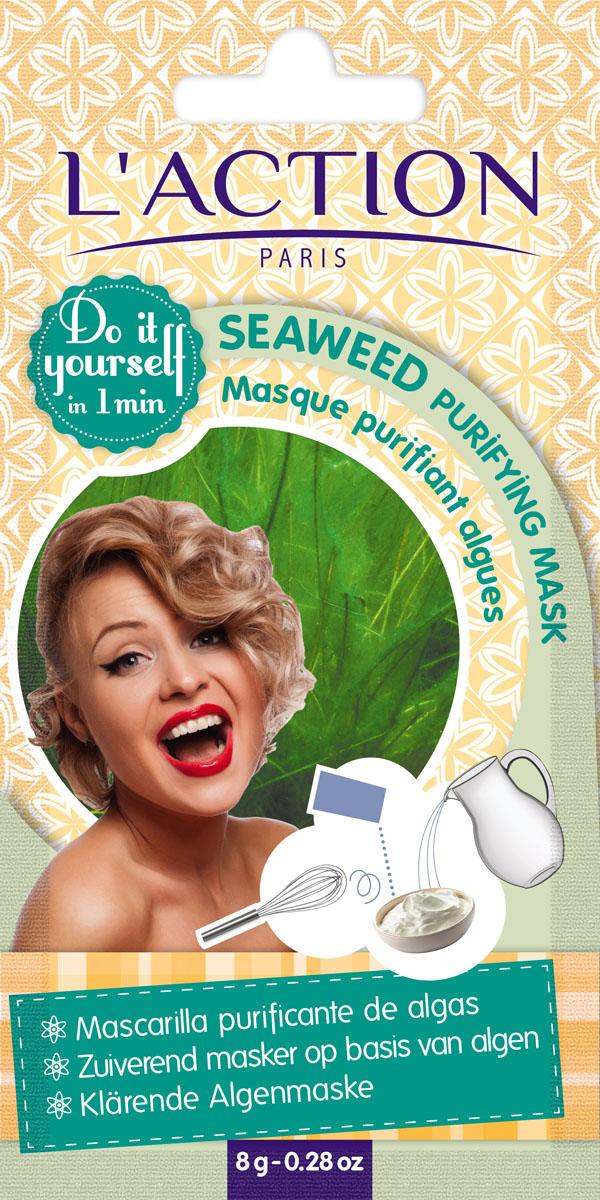 Laction Маска для лица очищающая на основе водорослей Seaweed purifying mask, 8 гFS-54114Комбинация богатой минералами ламинарии, насыщенной витаминами А и С и аминокислотами спирулины и тонизирующего экстракта хвоща, очистит кожу от любых загрязнений и придаст ей свежесть.