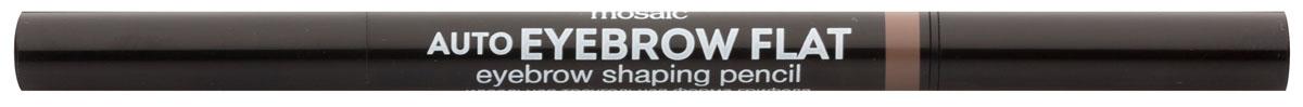 Eva Mosaic Карандаш для бровей Auto Eyebrow Flat, 0,25 г, 035010777142037Карандаш от брендаEva Mosaicпоможет любой женщине создать идеальную форму бровей. Он обладает удобной треугольной формой грифеля. С помощью острого кончика вы создадите четкими графичные линии, аплоский - сделает более мягкие и плавныештрихи. Благодаря щеточке на другом конце карандаша, вы сможете уложить брови или растушевать цвет. Грифель очень прочный, но при этом мягкий, не ломается и не крошится. Карандаш содержит витамины С и Е, сок листьев алоэ, масло жожоба и семян подсолнечника.