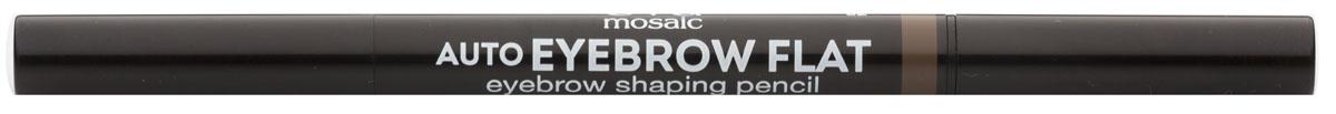 Eva Mosaic Карандаш для бровей Auto Eyebrow Flat, 0,25 г, 041301210Карандаш от брендаEva Mosaicпоможет любой женщине создать идеальную форму бровей. Он обладает удобной треугольной формой грифеля. С помощью острого кончика вы создадите четкими графичные линии, аплоский - сделает более мягкие и плавныештрихи. Благодаря щеточке на другом конце карандаша, вы сможете уложить брови или растушевать цвет. Грифель очень прочный, но при этом мягкий, не ломается и не крошится. Карандаш содержит витамины С и Е, сок листьев алоэ, масло жожоба и семян подсолнечника.