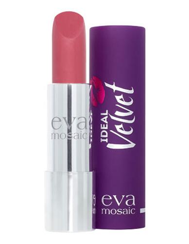 Eva Mosaic Губная помада Ideal Velvet матовая, 4,3 г, 03PMF3000Матовая с высоким содержанием пигмента формула помады подарит вашим губам интенсивный цвет. Превосходно наносится, оставляя тонкое равномерное устойчивое покрытие. Входящие в состав витамины E и F смягчают и увлажняют нежную кожу губ в течение всего дня. Не содержит силикона. Помаду можно наносить самостоятельно или в сочетании с контурным карандашом. Для наилучшего результата рекомендуется наносить на предварительно увлажненную кожу губ.
