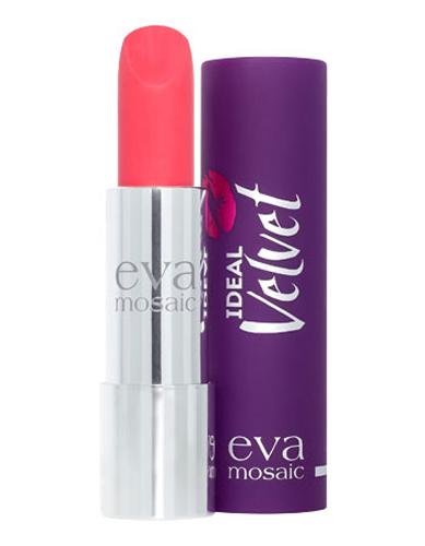 Eva Mosaic Губная помада Ideal Velvet матовая, 4,3 г, 0428032022Матовая с высоким содержанием пигмента формула помады подарит вашим губам интенсивный цвет. Превосходно наносится, оставляя тонкое равномерное устойчивое покрытие. Входящие в состав витамины E и F смягчают и увлажняют нежную кожу губ в течение всего дня. Не содержит силикона. Помаду можно наносить самостоятельно или в сочетании с контурным карандашом. Для наилучшего результата рекомендуется наносить на предварительно увлажненную кожу губ.