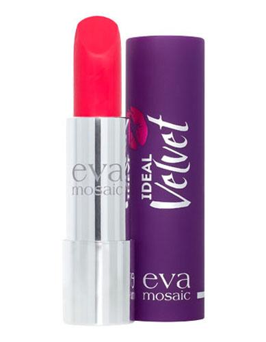 Eva Mosaic Губная помада Ideal Velvet матовая, 4,3 г, 058809435713118Матовая с высоким содержанием пигмента формула помады подарит вашим губам интенсивный цвет. Превосходно наносится, оставляя тонкое равномерное устойчивое покрытие. Входящие в состав витамины E и F смягчают и увлажняют нежную кожу губ в течение всего дня. Не содержит силикона. Помаду можно наносить самостоятельно или в сочетании с контурным карандашом. Для наилучшего результата рекомендуется наносить на предварительно увлажненную кожу губ.