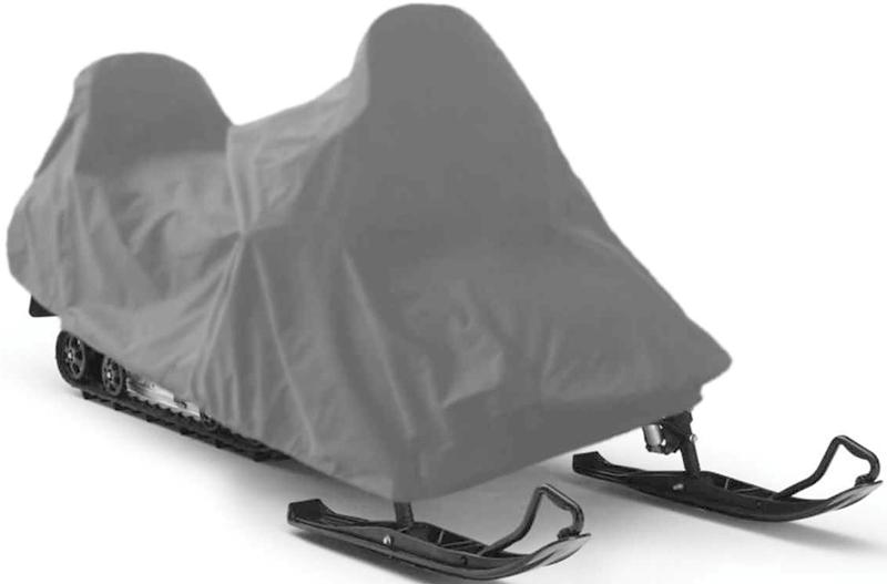 Чехол для снегохода Tplus, универсальный, цвет: серый. Размер M (250 х 110 х 120 см)T002045Универсальный чехол Tplus, изготовленный из ткани оксфорд плотностью 240 г/м2, защитит снегоход от снега и льда. Резинка по краю изделия позволяет плотно зафиксировать чехол на транспортном средстве. Чехол обладает водоотталкивающими свойствами, повышенной прочностью и износоустойчивостью. Мешок для транспортировки и хранения входит в комплект.
