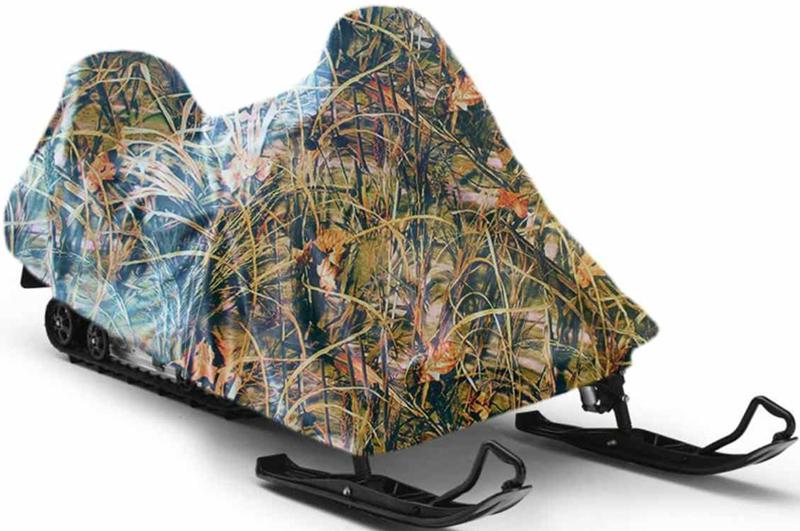 Чехол для снегохода Tplus, универсальный, цвет: тростник. Размер XL (310-320 х 140 х 150 см)KGB GX-5RSУниверсальный чехол Tplus, изготовленный из ткани оксфорд плотностью 240 г/м2, защитит снегоход от снега и льда. Резинка по краю изделия позволяет плотно зафиксировать чехол на транспортном средстве. Чехол обладает водоотталкивающими свойствами, повышенной прочностью и износоустойчивостью. Мешок для транспортировки и хранения входит в комплект.