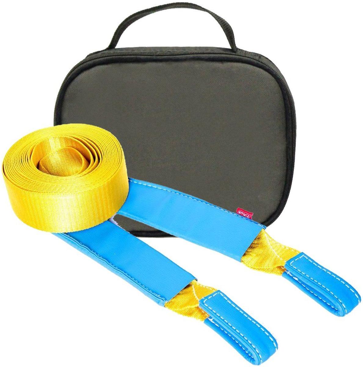 Строп динамический Tplus Стандарт, рывковый, с сумкой, цвет: оливковый, 6 т, 5 м.PANTERA SPX-2RSМинимальная разрывная нагрузка (MBS): 6 т;Длина: 5 м;Ширина ленты: 70 мм;Материал ленты: полиамид;Защита петель: экокожа;Защита швов: экокожа;Эластичность (удлинение при нагрузке): 20%;Исполнение: петля/петля;Применяется для а/м массой* от 1 до 1.8 т;Сумка (оксфорд);Гарантия: 1 год.*масса а/м = снаряженная масса а/м + 100 кг (+20% при эвакуации а/м из грязи).Если а/м оснащен дополнительным оборудованием (силовой бампер, лебёдка и т. п.), то масса а/м = снаряженная масса а/м + 100 кг + масса дополнительно установленного навесного оборудования (+20% при эвакуации а/м из грязи).