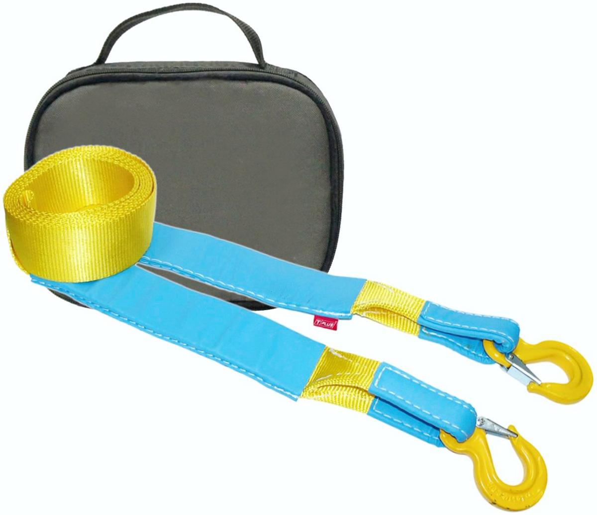 Ремень буксировочный эластичный Tplus Стандарт, крюк/крюк, с сумкой, цвет: олива, 6 т, 5 мPANTERA SPX-2RSМинимальная разрывная нагрузка (MBS): 6 т;Безопасная рабочая нагрузка (SWL): 2 т;Длина: 5 м;Ширина ленты: 70 мм;Материал ленты: полиамид;Защита петель: экокожа;Защита швов: экокожа;Эластичность (удлинение при нагрузке): 20%;Исполнение: крюк/крюк;Крюк с усиленной защелкой (SF8): 2/16 т (безопасная рабочая нагрузка SWL/минимальная разрывная нагрузка MBS);Применяется для а/м массой* от 1 до 1.8 т;Сумка (оксфорд);Гарантия: 1 год.*масса а/м = снаряженная масса а/м + 100 кг (+20% при эвакуации а/м из грязи).Если а/м оснащен дополнительным оборудованием (силовой бампер, лебёдка и т. п.), то масса а/м = снаряженная масса а/м + 100 кг + масса дополнительно установленного навесного оборудования (+20% при эвакуации а/м из грязи).