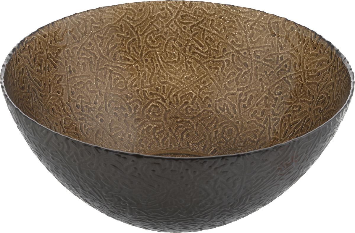 Салатник NiNaGlass Ажур, цвет: шоколадный металлик, диаметр 25 смFS-91909Салатник NiNaGlass Ажур выполнен из высококачественного стекла и декорирован рельефным узором. Он подойдет для сервировки стола как для повседневных, так и для торжественных случаев.Такой салатник прекрасно впишется в интерьер вашей кухни и станет достойным дополнением к кухонному инвентарю. Подчеркнет прекрасный вкус хозяйки и станет отличным подарком.Не рекомендуется использовать в микроволновой печи и мыть в посудомоечноймашине. Диаметр салатника (по верхнему краю): 25 см.Высота стенки: 10 см.