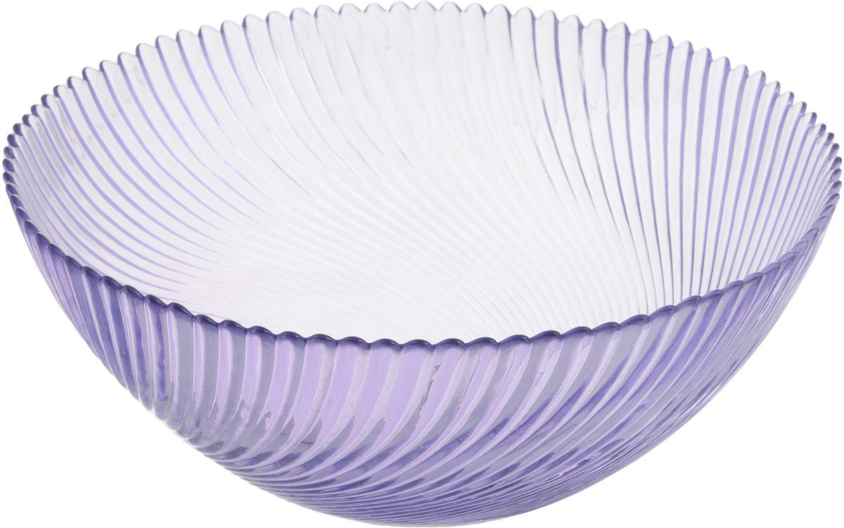 Салатник NiNaGlass Альтера, цвет: сиреневый, диаметр 25 см54 009312Салатник NiNaGlass Альтера выполнен из высококачественного стекла и декорирован рельефным узором. Он подойдет для сервировки стола как для повседневных, так и для торжественных случаев.Такой салатник прекрасно впишется в интерьер вашей кухни и станет достойным дополнением к кухонному инвентарю. Подчеркнет прекрасный вкус хозяйки и станет отличным подарком.Не рекомендуется использовать в микроволновой печи и мыть в посудомоечной машине.Диаметр салатника (по верхнему краю): 25 см.Высота стенки: 10,5 см.