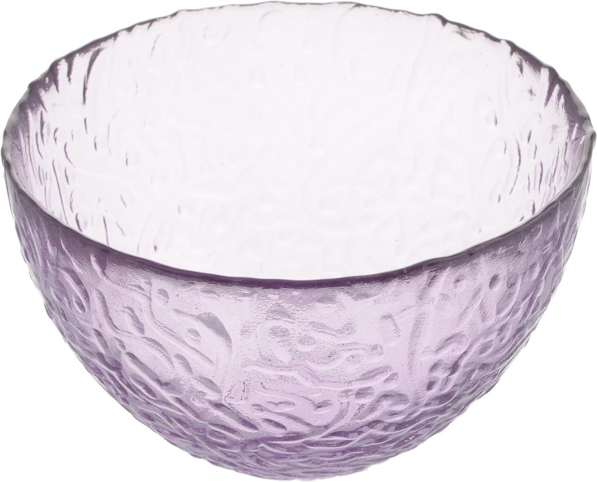 Салатник NiNaGlass Ажур, цвет: сиреневый, диаметр 12 см391602Салатник Ninaglass Ажур выполнен извысококачественного стекла и имеет рельефную поверхность. Он прекрасно впишется в интерьервашей кухни и станет достойным дополнением ккухонному инвентарю. Не рекомендуется использовать вмикроволновой печи и мыть в посудомоечноймашине.