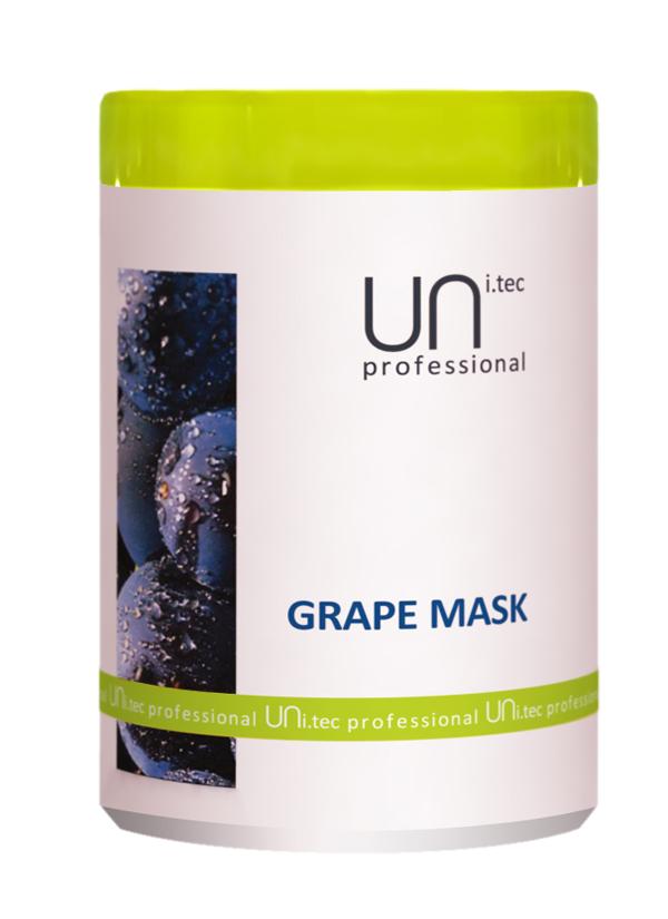 Uni.tec Маска для окрашенных и химически обработанных волос Grape Mask, 1000 мл2076127Действие активных компонентов кондиционирует и питает волосы от корней до кончиков, придавая волосам мягкость и блеск. Предупреждает преждевременное старение волос и пролонгирует стойкость цвета окрашенных волос. Благодаря сочетанию экстракта винограда, пальмового масла и глицина сои, обработанные волосы восстанавливаются, одновременно получая ультра увлажнение и защиту от УФ- повреждений. Применение: Нанести на чистые, вымытые волосы легкими массирующими движениями по всей длине, распутать если нужно. Для усиления действия оставить на 3 минуты, тщательно смыть теплой водой.