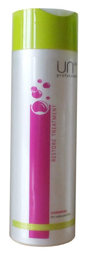 Uni.tec Шампунь для окрашенных волос Restore Treatment, 250 мл1635604Шампунь для окрашенных волос продлевает интенсивность цвета, восстанавливает поврежденную структуру волос, защищает от воздействия UV лучей. Применение: нанесите на влажные волосы от корней до кончиков легкими массирующими движениями, оставьте действовать на несколько минут, тщательно смойте теплой водой.