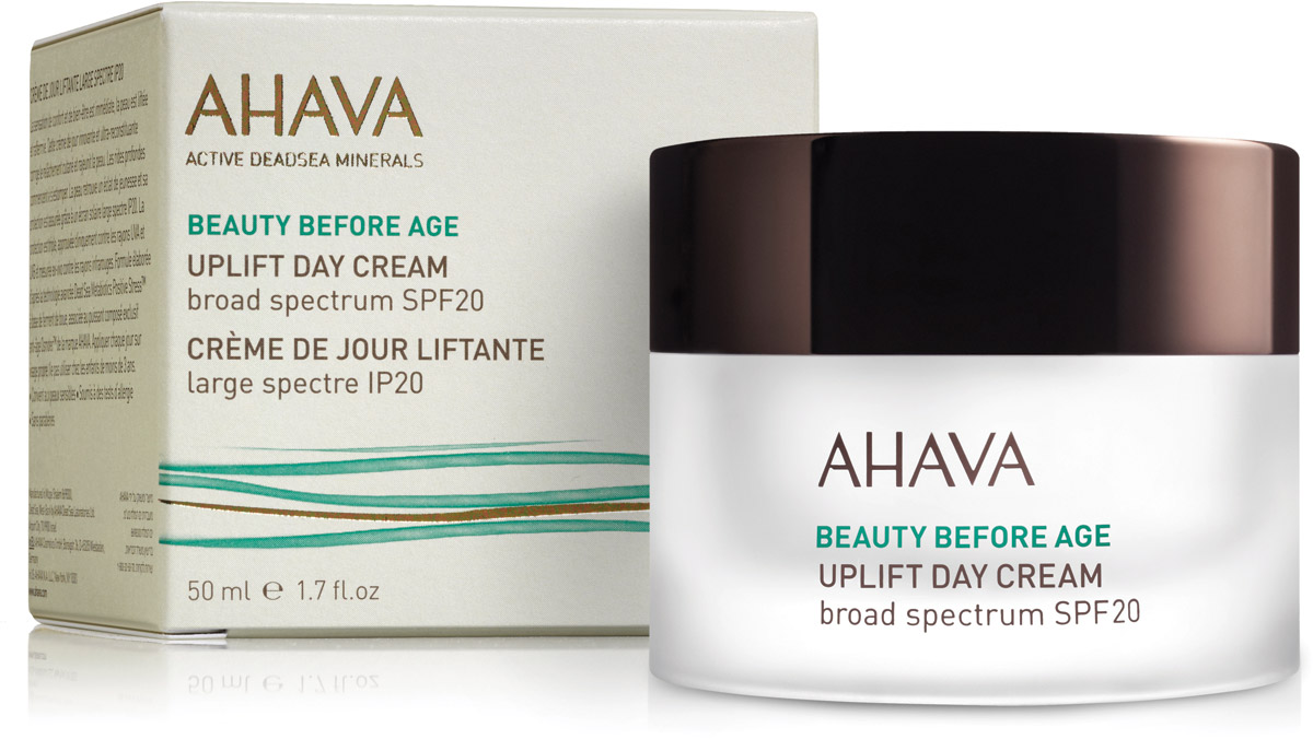 Ahava Beauty Before Age Дневной крем для подтяжки кожи лица с широким спектром защиты spf20 50 мл83715065Крем с легкой, но богатой активными компонентами текстурой, увлажняет, подтягивает обвисшую кожу, укрепляет контуры лица, уменьшает глубокие морщины. Восстанавливает структурную поддержку кожи и обеспечивает полную защиту от УФ-повреждений