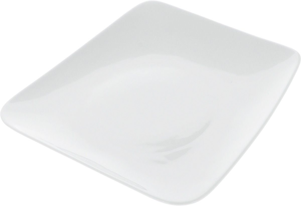Тарелка Ariane Rectangle, 27,5 х 26 см115510Оригинальная тарелка Ariane Rectangle изготовлена из высококачественного фарфора с глазурованным покрытием и имеет приподнятый край. Изделие идеально подходит для сервировки закусок и других блюд. Такая тарелка прекрасно впишется в интерьер вашей кухни и станет достойным дополнением к кухонному инвентарю. Можно мыть в посудомоечной машине и использовать в микроволновой печи. Размер тарелки (по верхнему краю): 27,5 х 26 см. Максимальная высота тарелки: 3 см.