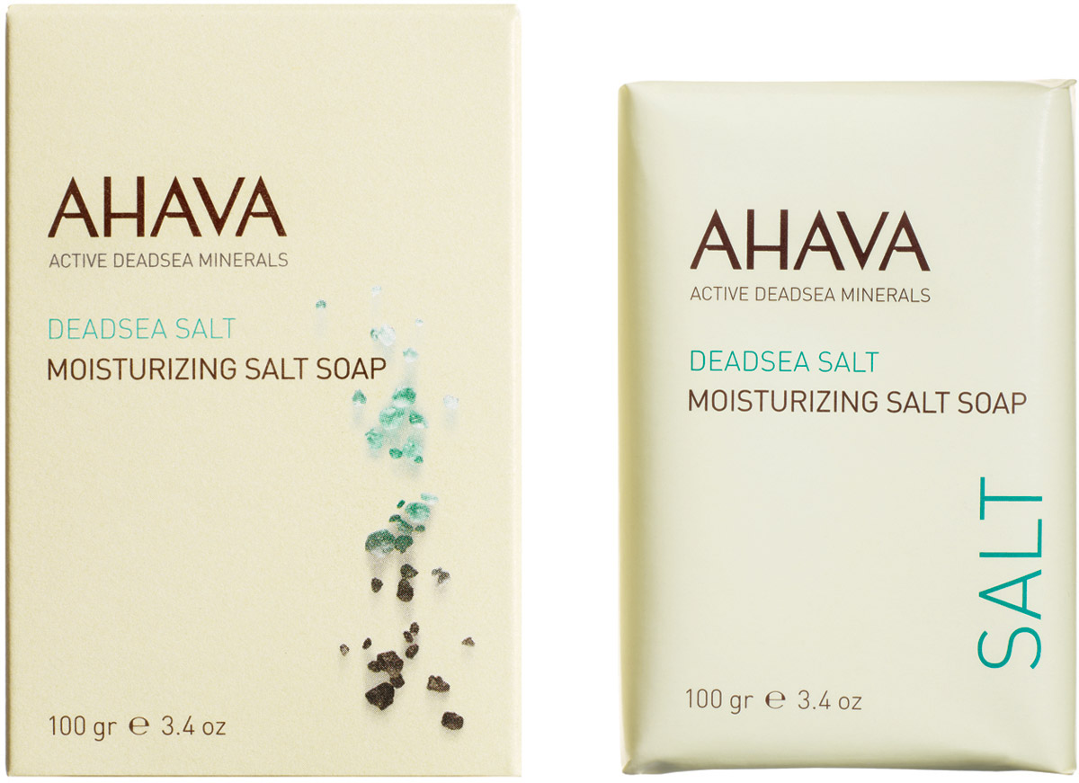 Ahava Deadsea Salt М Мыло на основе соли мертвого моря 100 гр85815065Очищающее, дружественное коже мыло, содержащее соли Мертвого моря, увлажняет кожу во время умывания, удаляет грязь и примеси. Восстанавливает естественный рН -баланс, может быть использован для тела и лица. Без SLS / SLES и парабенов.
