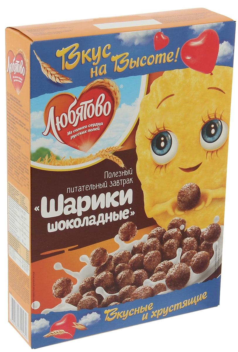 Любятово Готовый завтрак Шарики шоколадные, 250 г0120710Готовый и полезный завтрак Любятово Шоколадные шарики из злаков. Такой завтрак насытит вас на долгое время, снабдит энергией, необходимыми витаминами и микроэлементами, а также зарядит отличным настроением!