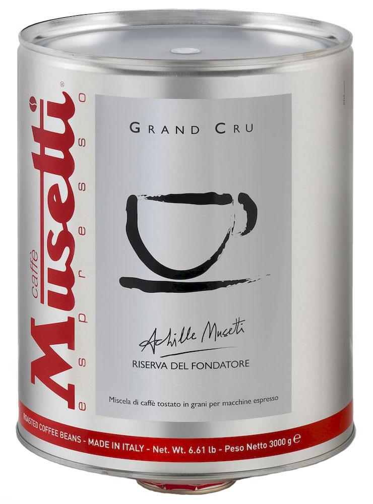 Musetti Grand Cru кофе в зернах, 3 кг4600946000865Кофе Musetti Grand Cru - купаж элитных зерен Арабики с лучших кофейных плантаций Бразилии, Индии, и Африкивысокого качества позволит вам насладится необыкновенным ярко выраженным ароматом, ощутить шоколадное послевкусие, с цветочными нотками ванили и цитруса. Изысканный и совершенный по вкусовым качествам. 100% Арабика. Упаковано под сжатым газом.