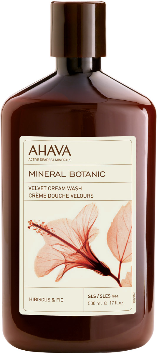 Ahava Mineral Botanic Бархатистое жидкое крем-мыло гибискус и инжир 500 мл43067Бархатистое жидкое крем-мыло Гибискус и инжир. Обогащен комплексом Osmoter™