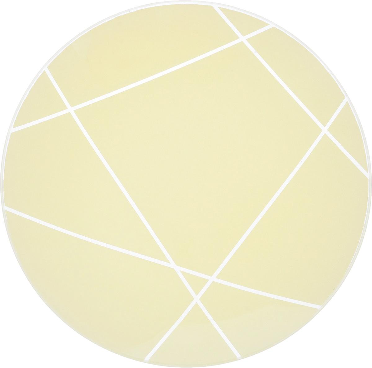 Тарелка NiNaGlass Контур, цвет: молочный, диаметр 20 смVT-1520(SR)Круглая тарелка NiNaGlass Контур, изготовленная из стекла, декорирована оригинальным рисунком. Она не только украсит сервировку вашего стола и подчеркнет прекрасный вкус хозяйки, но и станет отличным подарком. Диаметр: 20 см. Высота: 3 см.