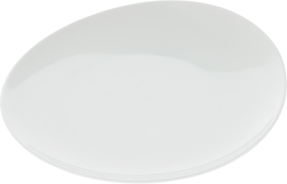 Тарелка Ariane Коуп, диаметр 24 см54 009312Оригинальная тарелка Ariane Коуп изготовлена из высококачественного фарфора с глазурованным покрытием и имеет приподнятый край. Изделие круглой формы идеально подходит для сервировки закусок и других блюд. Такая тарелка прекрасно впишется в интерьер вашей кухни и станет достойным дополнением к кухонному инвентарю. Можно мыть в посудомоечной машине и использовать в микроволновой печи. Диаметр тарелки (по верхнему краю): 24 см. Максимальная высота тарелки: 4 см.