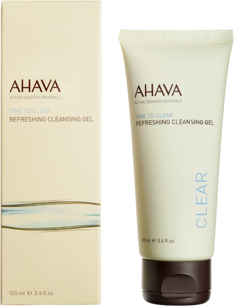Ahava Time To Clear Освежающий гель для очищения кожи 100 мл ahava time to clear purifying mud mask объем 100 мл