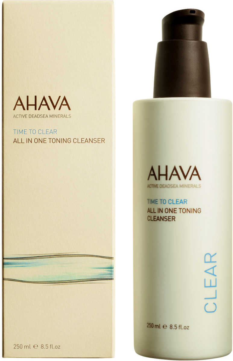 Ahava Time To Clear Тонизирующее очищающее средство все в одном 250 мл ahava time to clear purifying mud mask объем 100 мл