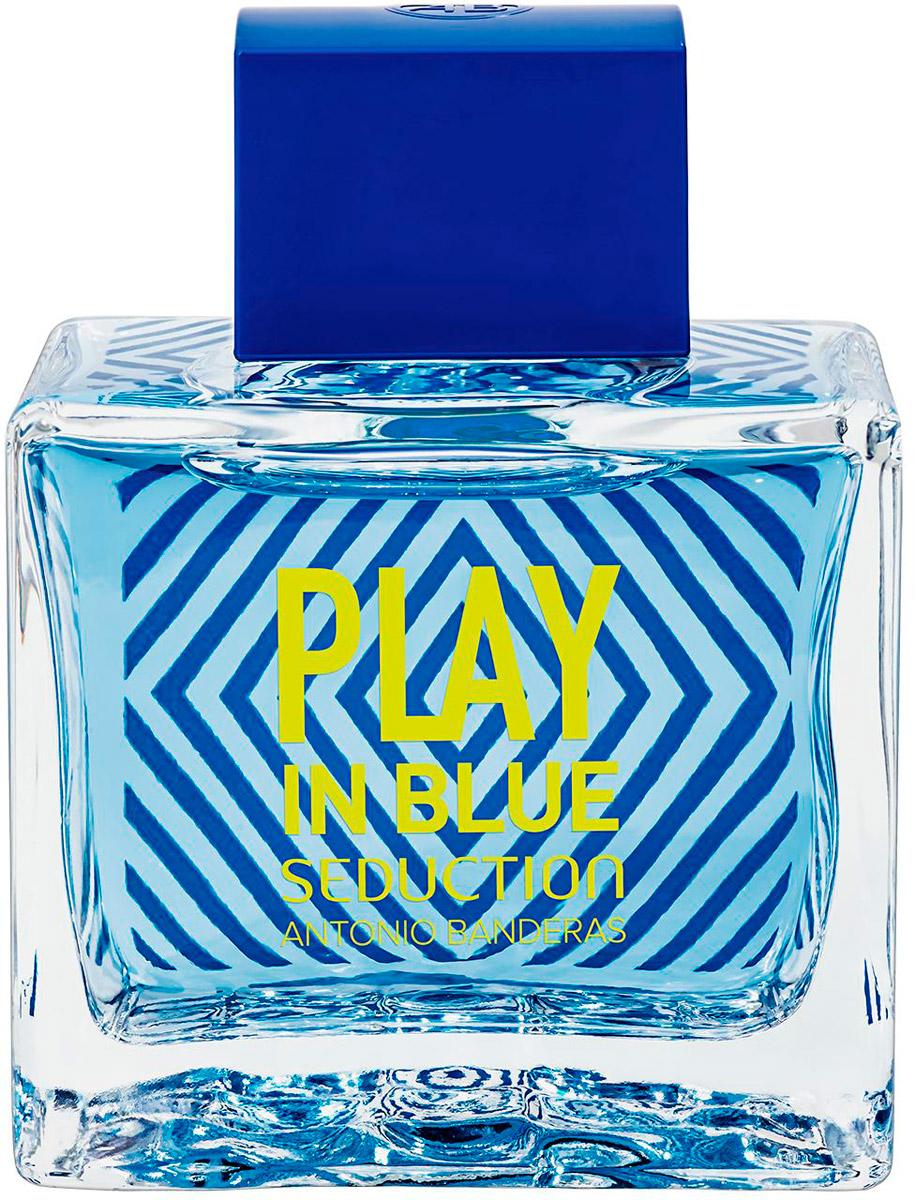 Antonio Banderas Play Blue Seduction Мужская Туалетная вода 100мл28032022Яркие и легкие ароматы с традиционным сочетанием амбры и мускуса в шлейфе