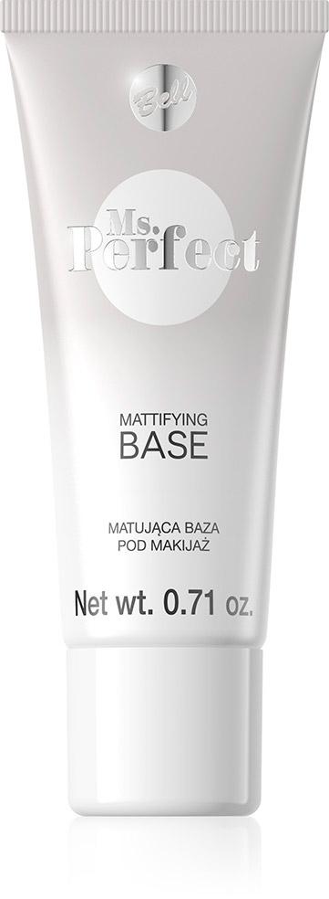 Bell База Матирующая Под Макияж Ms.perfect Mattifying Base Тон 01, 20 млAS-501/RБаза выравнивающая поверхность кожи и продлевающая стоякость макияжа. Впитывает излишки кожного жира, тем самым устраняет жирный блеск кожи. Идеално и гладко наносится и не оставляет разводов. База слегка подтягивает кожу.