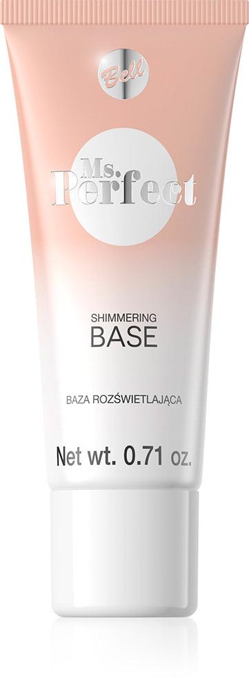 Bell База С Эффектом Осветления Ms.perfect Shimmering Base Тон 01, 20 мл28032022База содержит осветительные перламутровые пигменты и специальный полимер, который уменьшает видимость мелких морщин. Оставляет чувство свежести и обеспечивает оптический эффект разглаженной кожи. Нанесенная база перед макияжем, облегчает применение.