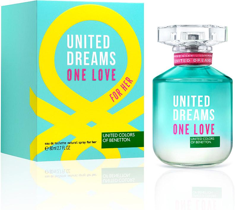 Benetton UD ONE LOVE женская Туалетная вода 50мл58997088000Ароматы One Summer, One Love - призыв присоедениться к революции United Dream. Парные ароматы, которые напоминают нам о том, что происхождение не имеет значение - мы разделяем общие мечты.