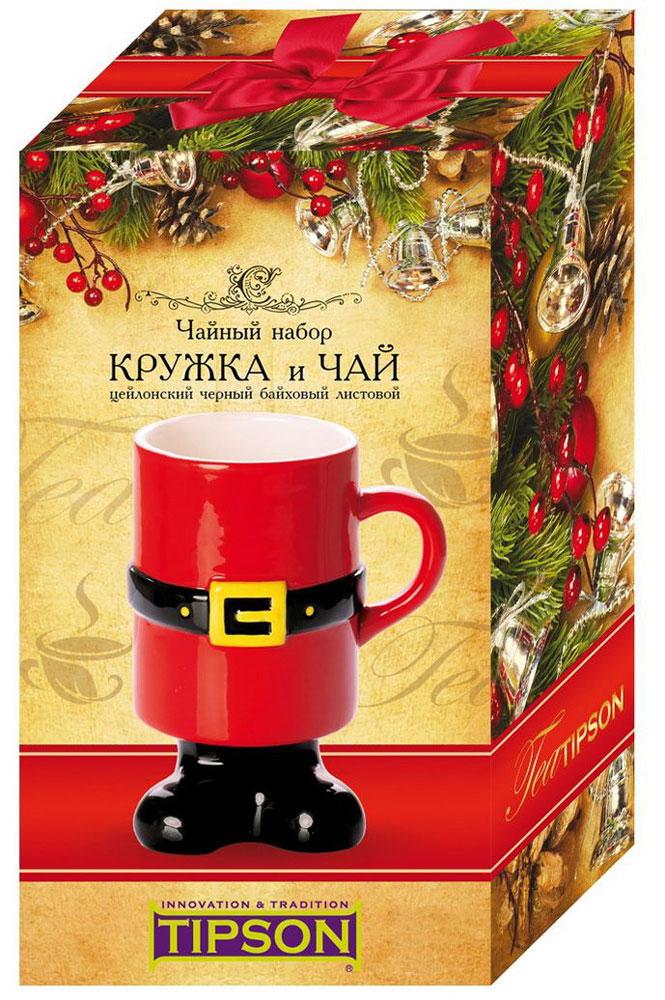 Tipson Подарочный набор Дед мороз Люкс 3.1 черный листовой чай, 50 г + кружка101246Набор Tipson Дед мороз. Люкс 3.1 включает в себя упаковку цейлонского черного чая и элегантную кружку с двойным дном.Набор идеально подойдет настоящим ценителям классического черного чая и согреет душу уютными семейными вечерами.Кружка изготовлена из керамики. Объем кружки - 0,38 л. Срок годности не ограничен, страна изготовления кружки - Китай.