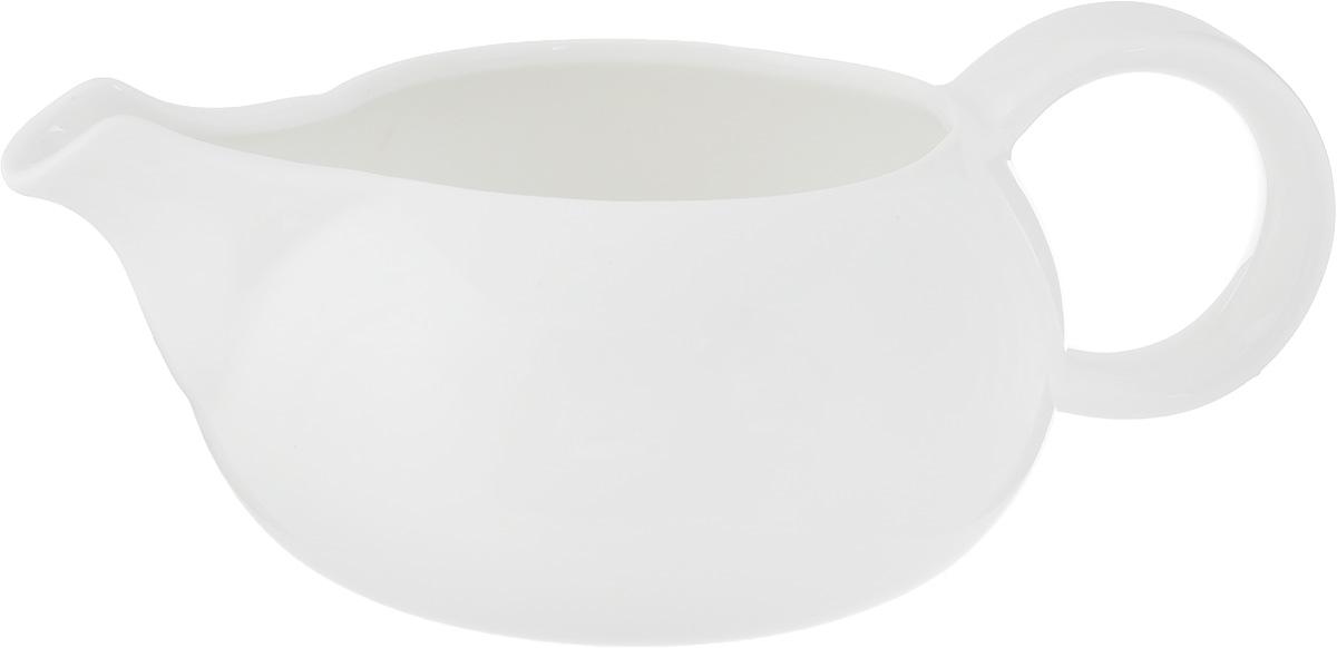 Соусник Ariane Коуп, 350 мл115510Соусник Ariane Коуп изготовлен из высококачественного фарфора, покрытого глазурью. Изделие предназначено для сервировки соусов, снабжено удобным носиком и ручкой. Такой соусник пригодится в любом хозяйстве, он подойдет как для праздничного стола, так и для повседневного использования. Изделие функциональное, практичное и легкое в уходе. Уникальный состав сырья, новейшие технологии и контроль качества гарантируют: снижение риска сколов, повышение термической и механической прочности, высокую сопротивляемость шоковым воздействиям, высокую устойчивость к стиранию, устойчивость к царапинам, возможность использования в духовых, микроволновых печах и посудомоечных машинах без потери внешнего вида, гладкий и блестящий внешний вид, абсолютную функциональность, защиту от деформации.