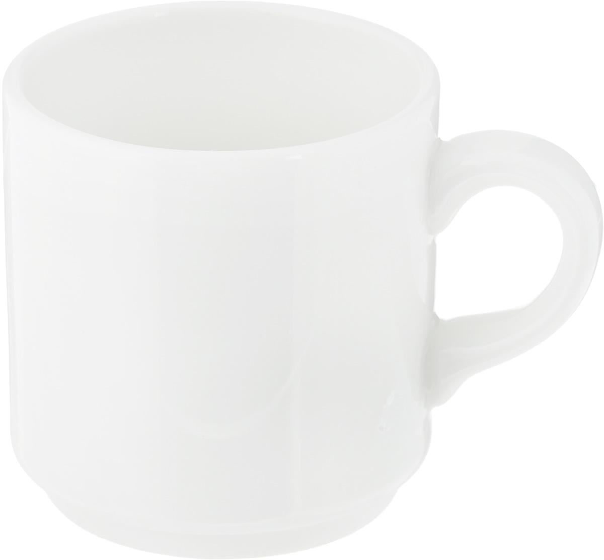 Чашка кофейная Ariane Прайм, 90 мл54 009312Чашка кофейная Ariane Прайм выполнена из высококачественного фарфора. Посуда из такого материала позволяет сохранить истинный вкус напитка, а также помогает ему дольше оставаться теплым. Белоснежность изделия дарит ощущение легкости и безмятежности.Диаметр чашки (по верхнему краю): 5,5 см. Высота чашки: 6 см.Объем чашки: 90 мл.