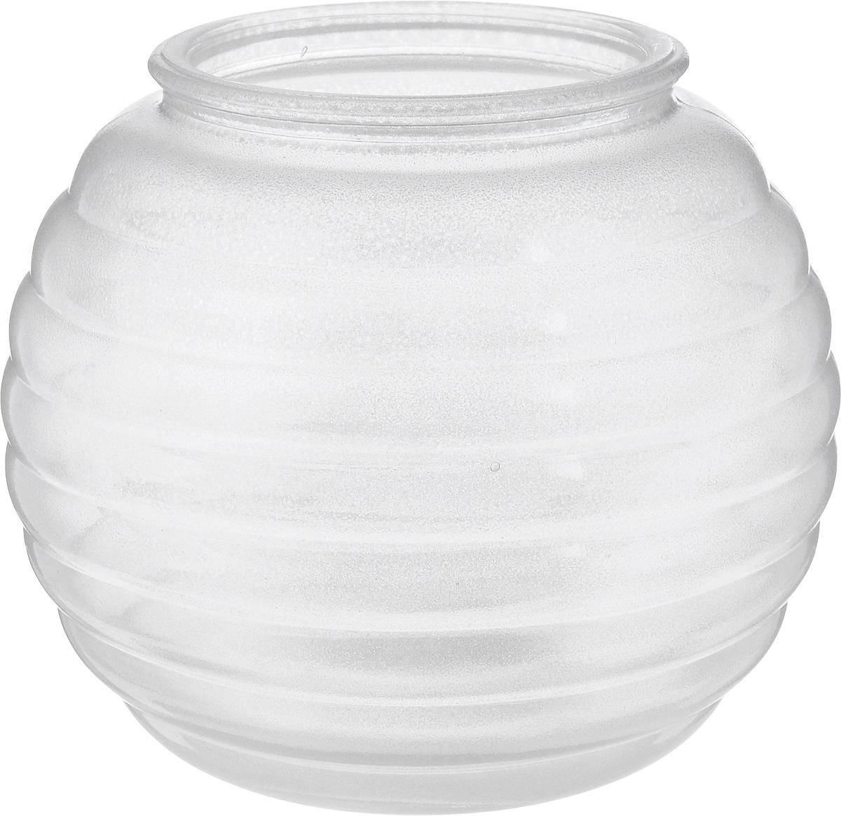 Ваза NiNaGlass Зара, цвет: серебряный, высота 13,3 см54 009312Ваза NiNaGlass Зара выполнена из высококачественного стекла и оформлена изящным рельефом. Такая ваза станет ярким украшением интерьера и прекрасным подарком к любому случаю.Высота вазы: 13,3 см.Диаметр вазы (по верхнему краю): 8 см.