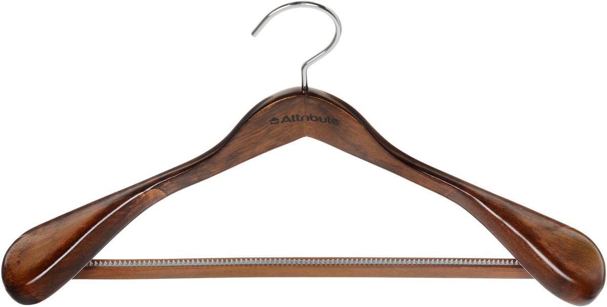Вешалка для верхней одежды Attribute Hanger Status, цвет: дерево, длина 44 см12723Вешалка для верхней одежды Attribute Hanger Status выполнена из дерева и оснащена перекладиной с рифленым покрытием. Вешалка - это незаменимая вещь для того, чтобы ваша одежда всегда оставалась в хорошем состоянии. Длина вешалки: 44 см.