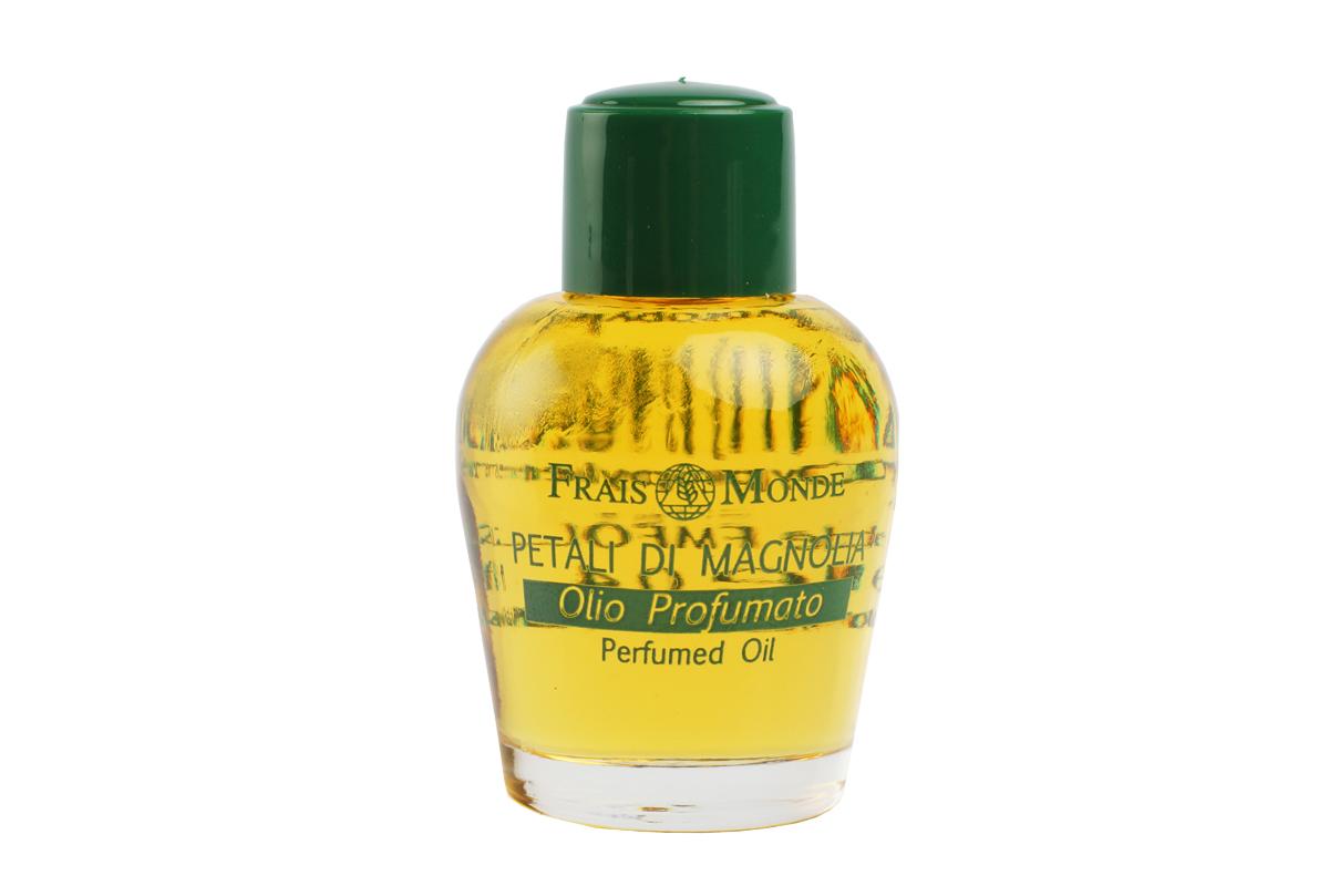 FraisMonde Парфюмерное масло Цветок магнолии 12 мл.перфорационные unisexЭто линия чудесных ароматов, созданных на основе чистых эфирных масел растений. В составе масел – только 100 % натуральные компоненты, минеральные соли, растительные консерванты и эмульгаторы. Не содержит спирта. Идеальная альтернатива спиртосодержащим духам и туалетным водам, дарит коже длительный, легкий и изысканный аромат. Не раздражает и не сушит кожу, расслабляет и успокаивает. Нежный и уютный аромат магнолии.