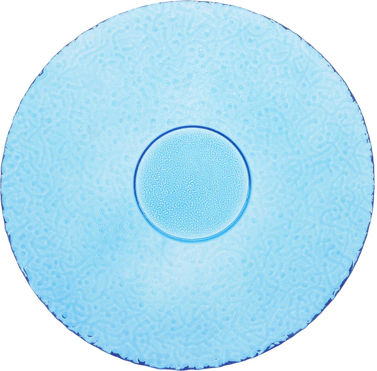 Тарелка NiNaGlass Ажур, цвет: голубой, диаметр 21 смFS-91909Тарелка NiNaGlass Ажур выполнена из высококачественного стекла и имеет рельефную поверхность. Она прекрасно впишется в интерьер вашей кухни и станет достойным дополнением к кухонному инвентарю. Тарелка NiNaGlass Ажур подчеркнет прекрасный вкус хозяйки и станет отличным подарком. Диаметр тарелки: 21 см. Высота: 2,5 см.