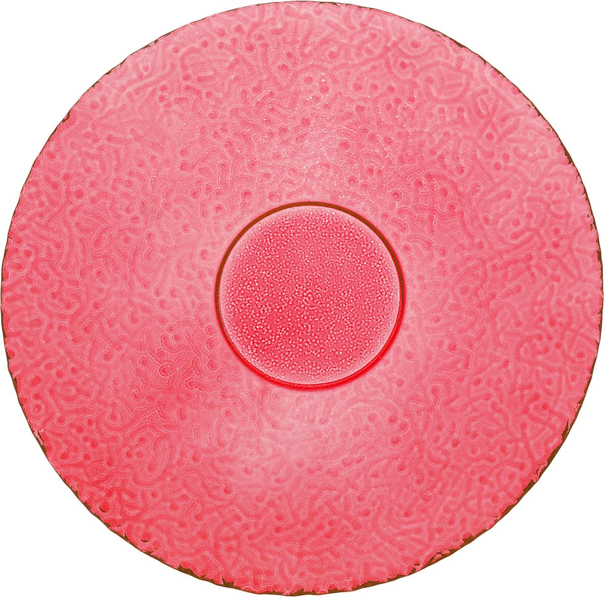 Тарелка NiNaGlass Ажур, цвет: рубиновый, диаметр 21 см115510Тарелка NiNaGlass Ажур выполнена из высококачественного стекла и имеет рельефную поверхность. Она прекрасно впишется в интерьер вашей кухни и станет достойным дополнением к кухонному инвентарю. Тарелка NiNaGlass Ажур подчеркнет прекрасный вкус хозяйки и станет отличным подарком. Диаметр тарелки: 21 см. Высота: 2,5 см.