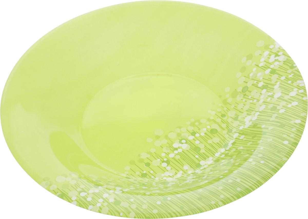 Тарелка суповая Luminarc FlowerFields Anis, цвет: салатовый, зеленый, диаметр 21 см507918Суповая тарелка Luminarc FlowerFields Anis выполнена из ударопрочного стекла и имеет изысканный внешний вид. Изделие сочетает в себе оригинальный дизайн с максимальной функциональностью. Она прекрасно впишется в интерьер вашей кухни и станет достойным дополнением к кухонному инвентарю. Суповая тарелка Luminarc FlowerFields Anis создаст весеннее настроение на вашей кухне.Можно мыть в посудомоечной машине и использовать в СВЧ.Диаметр тарелки (по верхнему краю): 21 см.Высота тарелки: 3,5 см.