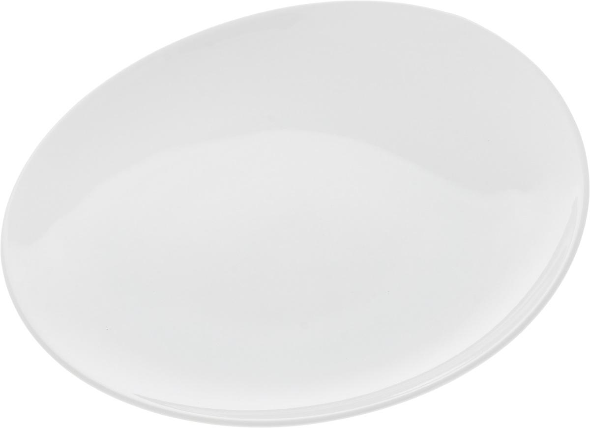 Тарелка Ariane Коуп, диаметр 18 см115510Оригинальная тарелка Ariane Коуп изготовлена из высококачественного фарфора с глазурованным покрытием и имеет приподнятый край. Изделие круглой формы идеально подходит для сервировки закусок и других блюд. Такая тарелка прекрасно впишется в интерьер вашей кухни и станет достойным дополнением к кухонному инвентарю. Можно мыть в посудомоечной машине и использовать в микроволновой печи. Диаметр тарелки (по верхнему краю): 18 см. Максимальная высота тарелки: 2,5 см.