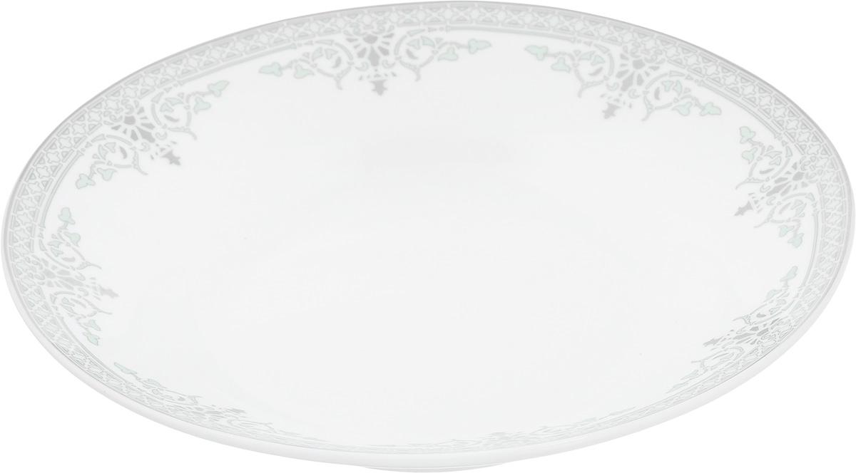 Тарелка суповая Венеция, диаметр 21 см54 009312Тарелка суповая Венеция изготовлена из высококачественного фарфора. Изделие устойчиво к повреждениям и истиранию, в процессе эксплуатации не впитывает запахи и сохраняет первоначальные краски. Тарелка декорирована красивым орнаментом.Диаметр тарелки (по верхнему краю): 21 см.Высота тарелки: 4 см.