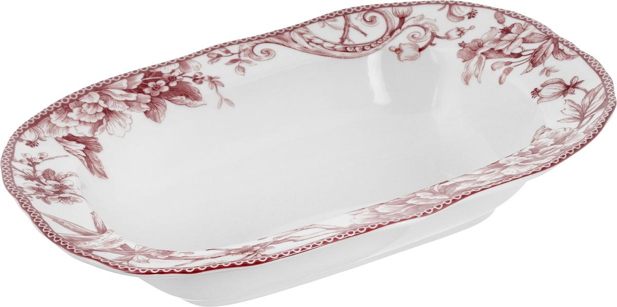 Салатник Sango Ceramics Аделаида Бордо, 28,5 х 22 см465120Овальный салатник Sango Ceramics Аделаида Бордо, изготовленный из керамики, прекрасно подойдет для сервировки салатов, закусок и много другого. Изделие, оформленное оригинальным рисунком, украсит сервировку вашего стола и подчеркнет прекрасный вкус хозяйки.Можно мыть в посудомоечной машине и использовать в микроволновой печи.Размер салатника (по верхнему краю): 28,5 х 22 см.Высота салатника: 6 см.
