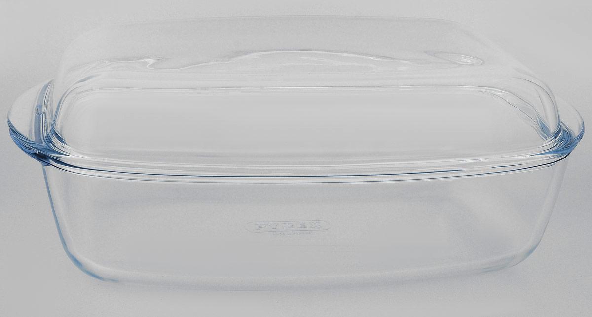 УтятницаPyrex, с крышкой, прямоугольная, 7 л466AAУтятница Pyrex выполнена из жаропрочного стекла. Изделие не вступает в реакцию с готовящейся пищей, а потому не выделяет никаких вредных веществ, не подвергается воздействию кислот и солей. Стеклянная посуда очень удобна для приготовления и подачи самых разнообразных блюд. Стекло выдерживает температуру от - 40°C до +300°C. Благодаря прозрачности стекла, за едой можно наблюдать при ее приготовлении, еду можно видеть при подаче, хранении. Используя эту форму, вы можете, как приготовить пищу, так и изящно подать ее к столу, не меняя посуды. Крышка выполнена из стекла и может быть использована также отдельно для приготовления и подачи различных блюд.Утятница может быть использована в духовке, микроволновой печи и морозильной камере. Можно мыть в посудомоечной машине.Размер утятницы (без учета ручек): 32 х 20,5 х 8,5 см. Объем утятницы: 7 л.Размер крышки (без учета ручек): 31 х 19 х 4,5 см.Объем крышки: 2,4 л.