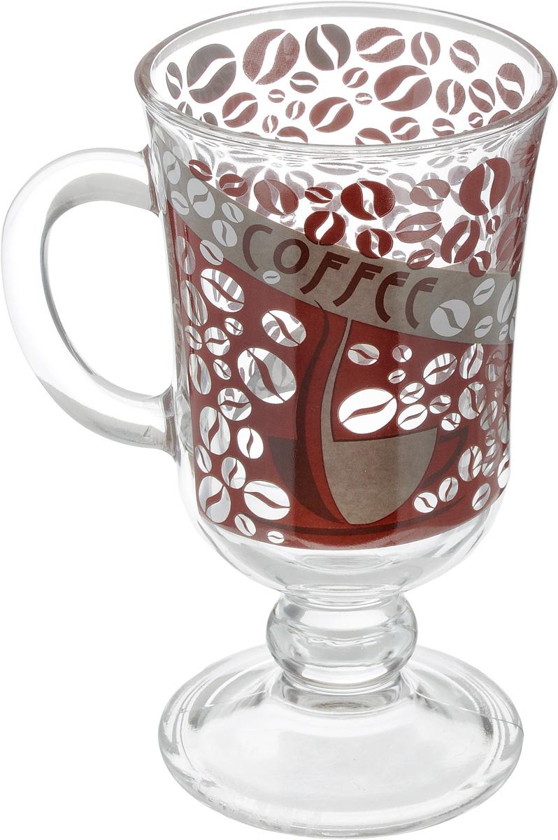 Кружка ОСЗ Глинтвейн. Кофейные зерна, 200 мл55531BD7Кружка ОСЗ Глинтвейн. Кофейные зерна выполнена из высококачественного стекла. Изделие имеет толстые стенки, устойчиво к высоким температурам. Кружка декорирована надписью и оригинальным рисунком в виде зерен кофе. Кружка ОСЗ Глинтвейн. Кофейные зерна порадует вас лаконичным дизайном и практичностью. Диаметр кружки (по верхнему краю): 7,5 см.Диаметр основания: 7 см.Высота кружки: 14 см.