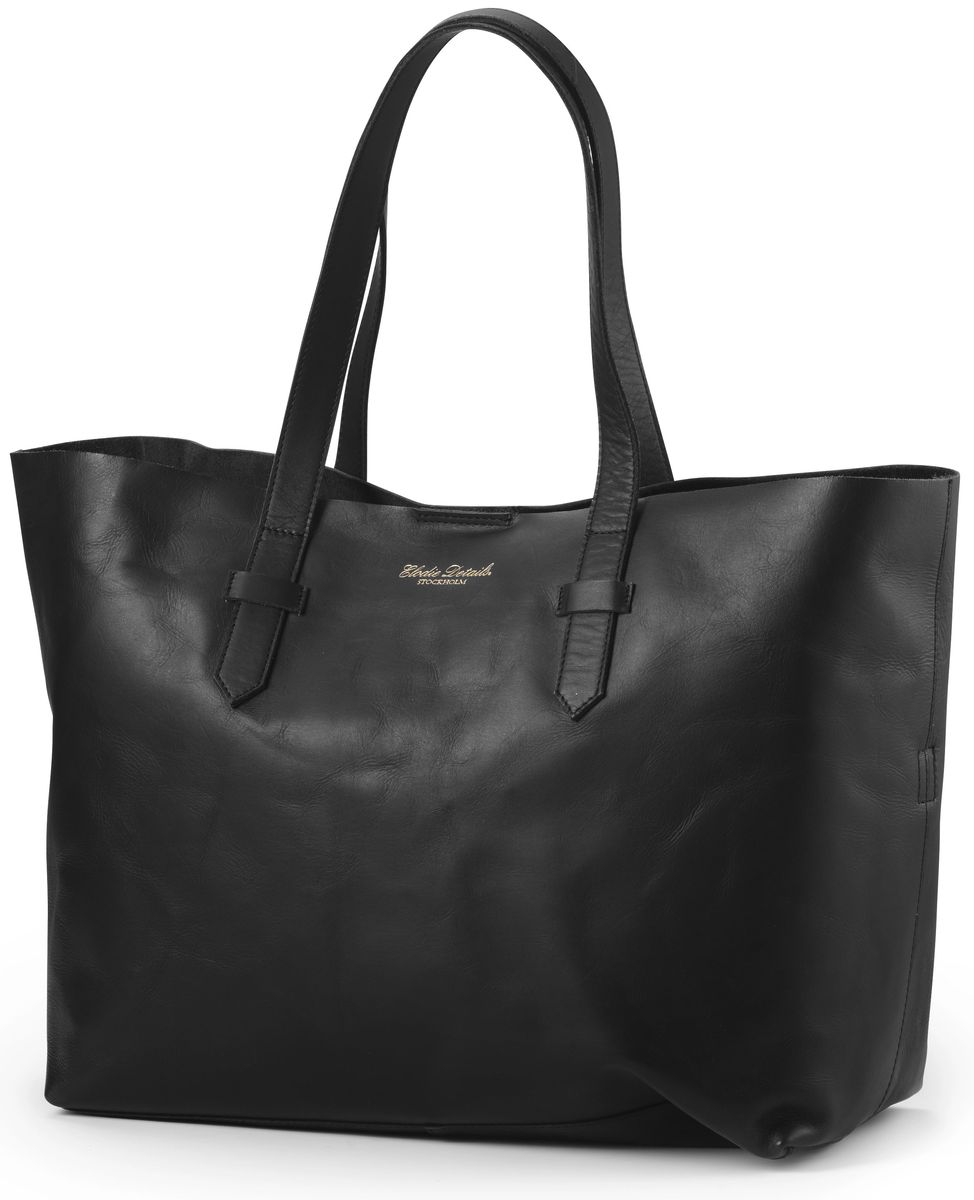 Elodie Details Сумка для мамы Black Leather цвет черный - Сумки для мам