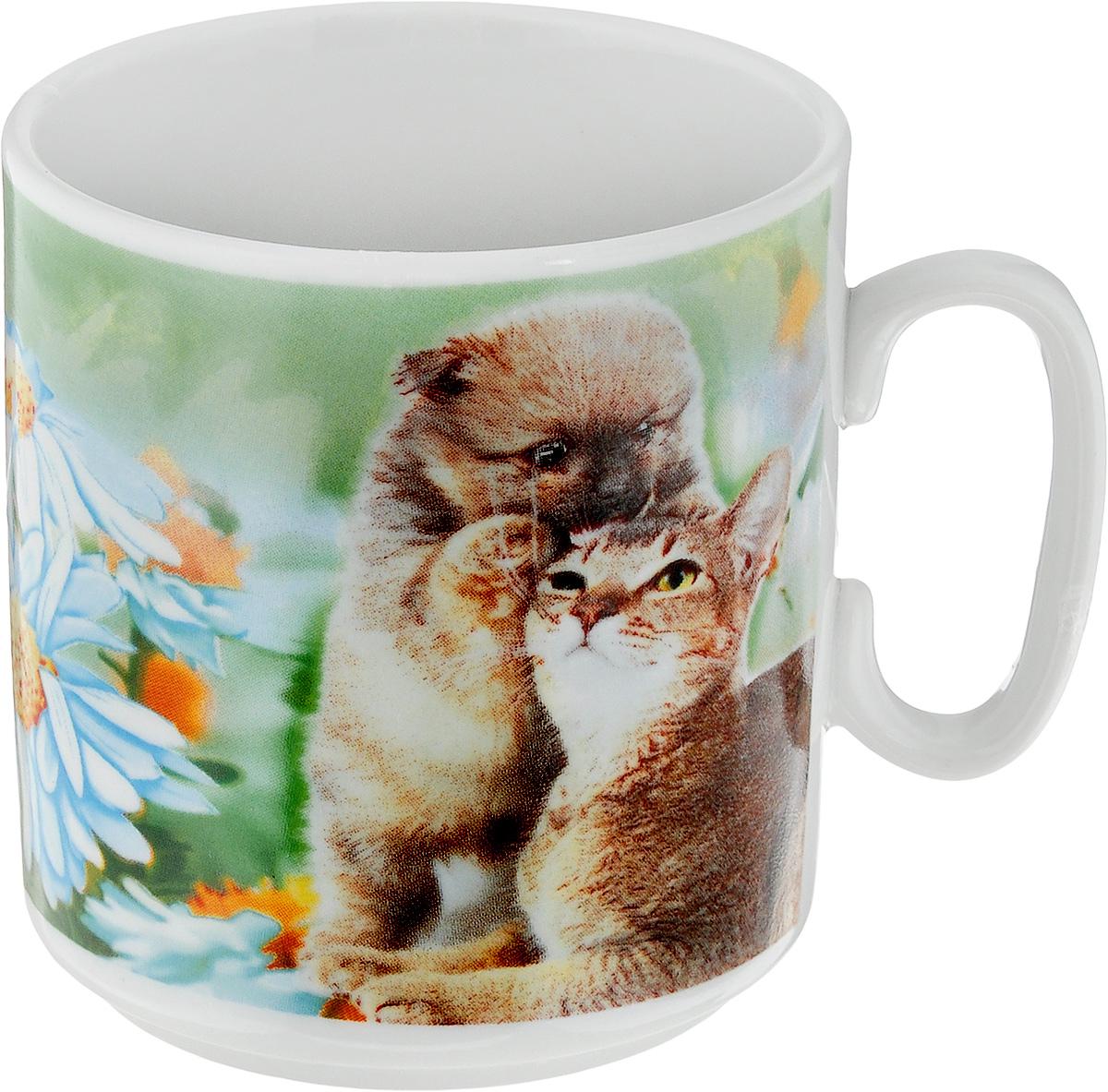 Кружка Джойс. Йоркширский терьер, кот и ромашки, 300 мл115510Кружка Джойс. Йоркширский терьер, кот и ромашки изготовлена из высококачественного фарфора. Внешние стенки изделия оформлены красочным рисунком. Такая кружка прекрасно подойдет для горячих и холодных напитков. Она дополнит коллекцию вашей кухонной посуды и будет служить долгие годы.Диаметр кружки (по верхнему краю): 8 см.Высота кружки: 8,5 см.